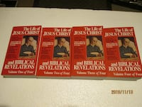 CATHOLIC BOOKS: Life of Jesus Christ and Biblical Revelations Set of 4 Vaughan