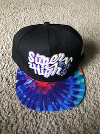 black and blue Super High fitted cap