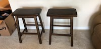 Two brown wooden bar stools Fort Worth, 76110