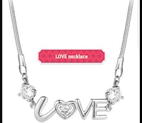 LOVE necklace.  With gift box.   New Edmonton, T6M 2G7