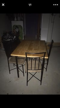 rectangular brown wooden table with four chairs dining set Avon, 02322