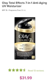 Olay Total Effects 7-in-1 Anti-Aging UV Moisturizer Montréal, H4R 0E8