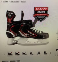 CCM ice hockey skates. Youth size 11D Red Hook, 12571