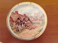 """Royal Kent Bone China Collection Plate """"thatched roof cottage"""" with Plate Holder Saint Petersburg, 33701"""
