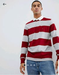 Tommy Hilfiger Iconic Block-Stripe Rugby Shirt, Medium  Owings Mills