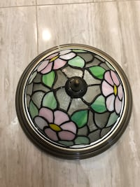 Stained Glass Flush Mount Chandelier