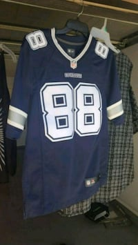 blue and white NFL 88 jersey Mission, 78574