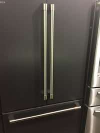 """GE Cafe Series 36"""" Counterdepth French Door Fridge in Black Matte Model CWE23SP3MBD1 Paterson, 07503"""