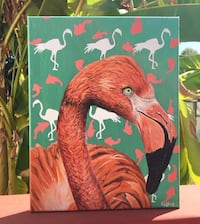 Flamingo Art Painting Rock Hill