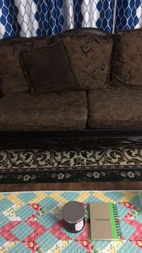 Brown and black floral fabric sofa Windsor, N9E 2M5