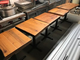 Handmade Wooden Tables x 6
