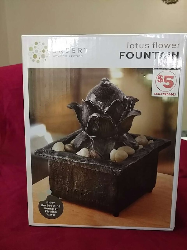 Used Lotus Flower Fountain Box For Sale In Wichita Letgo