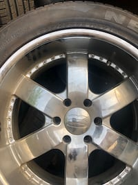Chrome 6-spoke car wheel with tire Manassas