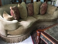 brown fabric sofa chair with throw pillow Bakersfield, 93311
