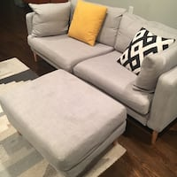 Mid Century Couch and Ottoman