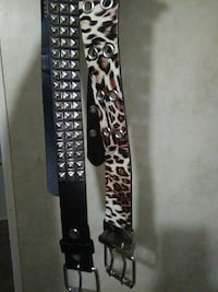 Leopard print and metal studded belts size med Keystone Heights, 32656