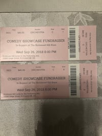 Comedy Tickets We'd Sept 26, 2018.  Richmond Hill Centre of Performing Arts Richmond Hill, L4E 0C4