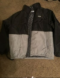 black and white zip-up jacket Grapevine, 76051