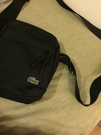 black Lacoste crossbody bag