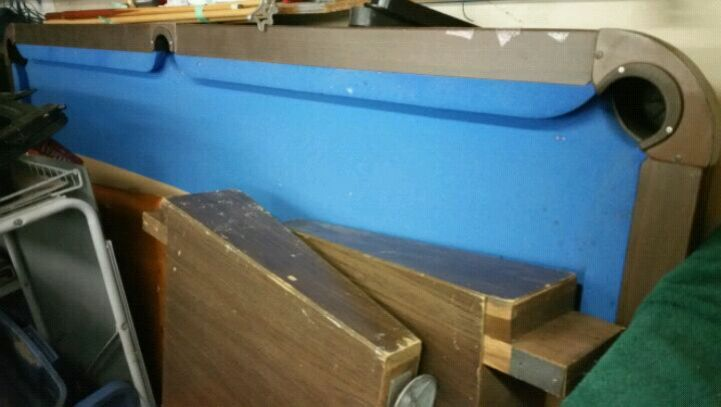 brown and blue pool table, used for sale  Langley
