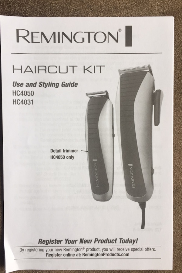 Remington haircut kit 4262bda4-16fd-4dd4-b3bc-3a0de05e11cd