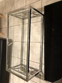 gray metal framed glass display cabinet Bowie, 20716