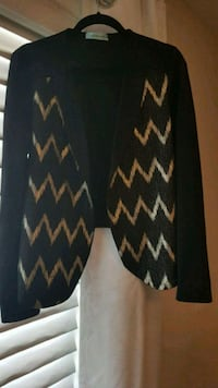 black and gold chevron print blazer Calgary, T3N 0E4