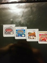 four assorted Nintendo 3DS game cartridges Toronto, M3N 2H3