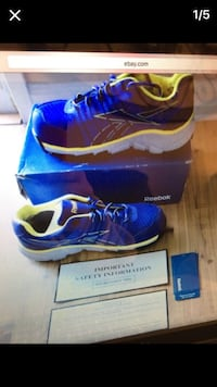 blue and black reebok running shoes on box American Canyon, 94503
