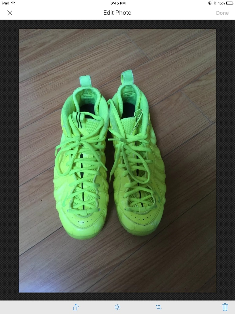 0f1c032c402 ... best price nike air foamposite pro volt neon green penny basketball  sneaker size 9.5 e5266 8a774