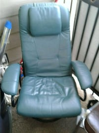 gray leather padded rolling armchair Edmonton, T5S 2M5