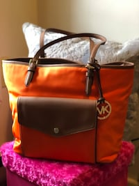 Michael Kors Orange  and brown  tote bag Mount Pocono, 18344