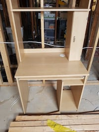 brown wooden computer desk with hutch Abbotsford, V2T 3V7