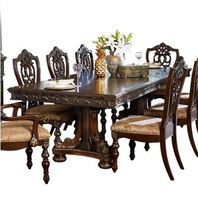 NEW 7 PCS HOMELEGANCE CATALONIA DINING TABLE SET