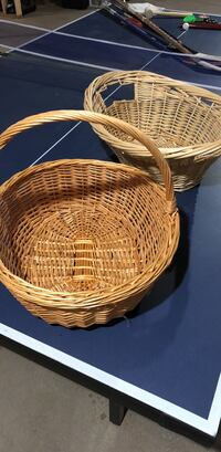 Two round brown wicker baskets Frederick, 21703