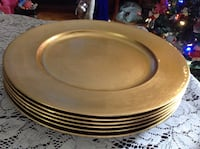 6 gold charger plates