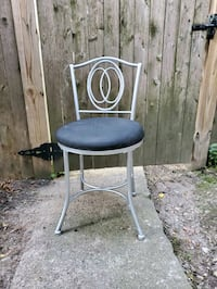 vanity Chair, Silver & Black, $20.00