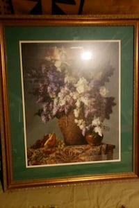 brown wooden framed painting of flowers Baltimore, 21215