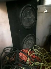 black and gray subwoofer speaker 2258 mi
