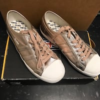 Rose gold converse style shoes. Worn once and too big. Size 8 Nashville, 37027