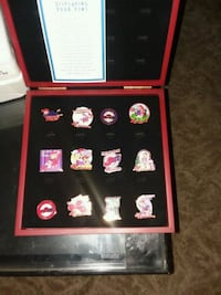 Red Hat Society pins with wooden display case Tipton, 93272