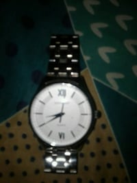 round silver-colored analog watch with link bracelet , 310031