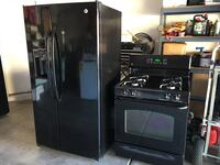 GE Adora fridge- like new! Beautiful inside and out! GE gas stove- works great! Asking $700 for set!  2049 mi