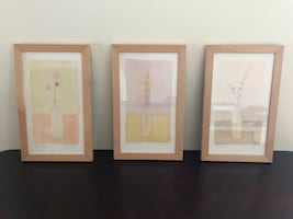 Wall art prints framed decor