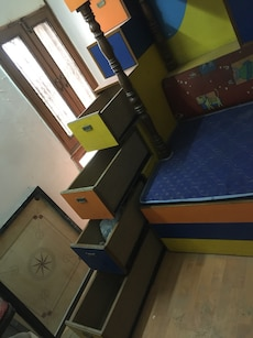 Multi purpose kids bunk bed with study table