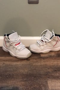 Jordan 11 retro platinum tint, white/black/university red