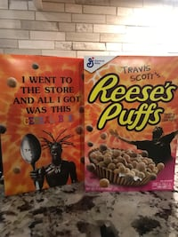 Travis Scott Reese's Puffs limited edition cereal  Waterdown, L8B 0G2