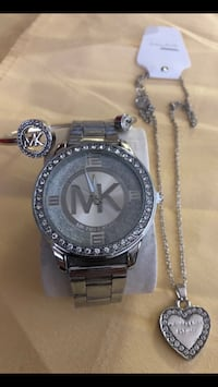 round silver-colored analog watch with link bracelet San Antonio, 78211