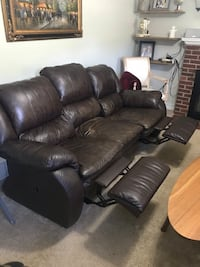 black leather 3-seat recliner sofa Washington, 20003