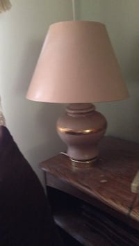 Pink and gold table lamp Calgary, T2J 6N8